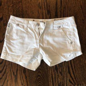 Miss Me White Jean Shorts